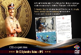 CSS congratulates Dr C Sylendra Babu, IPS, on completing a massive swim across the Palk Strait from Thalaimannar to Dhanushkodi
