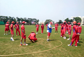 Afghan under 19 team preparation camp for Asia Cup at CSS