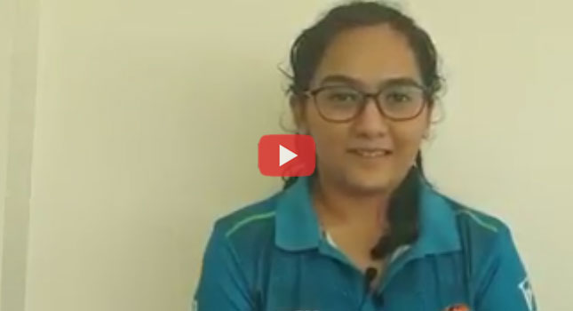 Shooter Aditi Shukla talks about her training during the Project Leap Camp at CSS