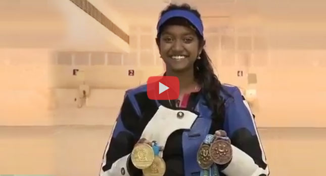 Shooter Elavenil's Interview with Sports Diary - Talks about her training at CSS..!!