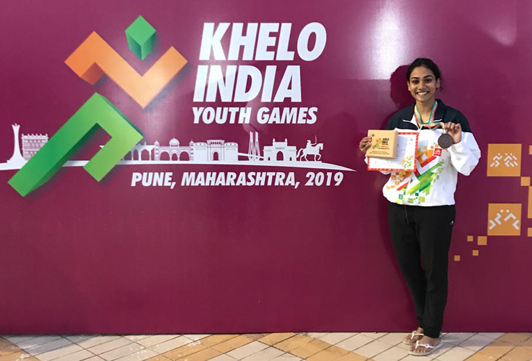 Nivya Raja wins Bronze in 50 mts butterfly in Khelo India Youth Games, Pune