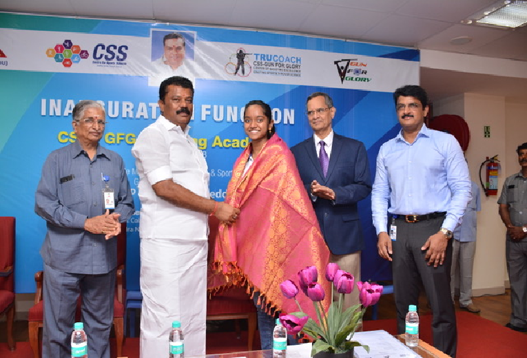 Felicitation of National Shooter Ms.Elavenil