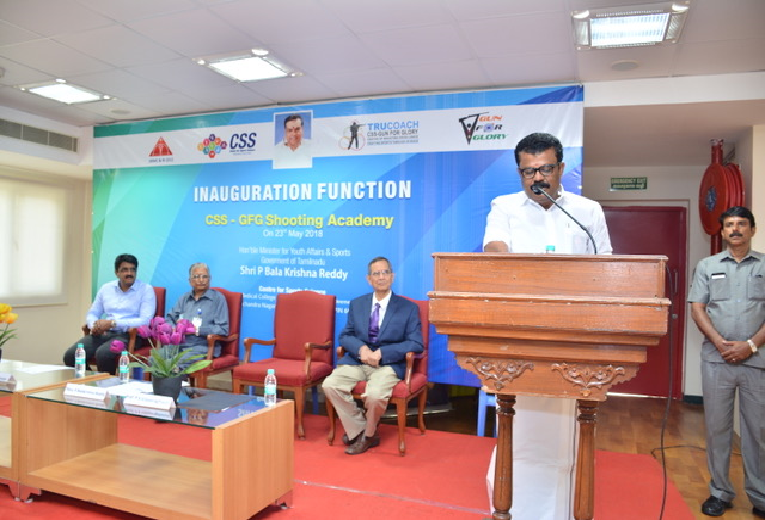 Inaugural Address by Shri P Balakrishna Reddy, Hon'ble Minister for Youth Affairs & Sports,Govt of TN