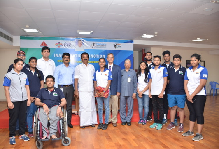 CSS & GFG Team with Hon'ble Minister for Youth Affairs & Sports, Govt of TN
