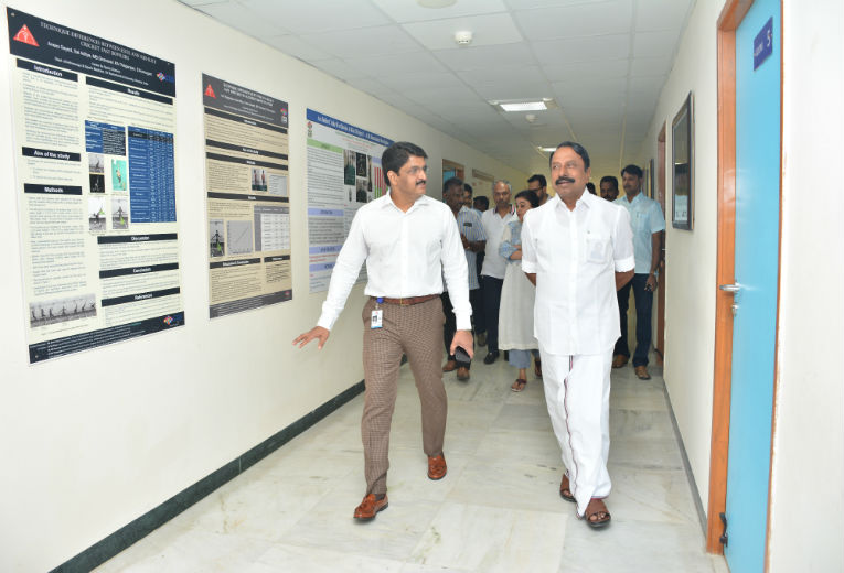 Sports Minister with Prof.S.Arumugam, Director, CSS