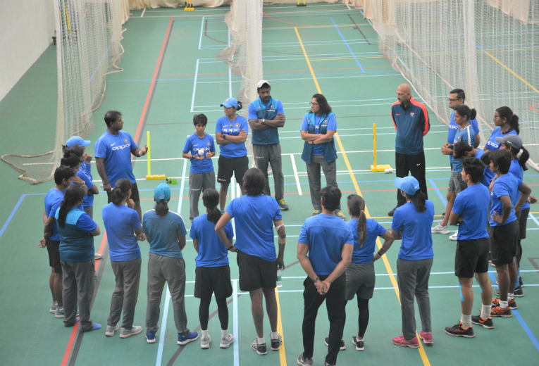 Indian Women's Cricket team train at CSS