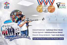 Champion Shooters Elavenil Valarivan, Shreya Agrawal, Manini Kaushik win prestigious medals at 52nd ISSF World Championship - Changwon, South Korea