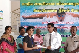 Young CSS trained swimmer Jayaveena Vijay wins a Gold in the State Inter University Swimming Championship in the 100m breast stroke category.
