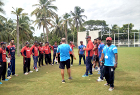 Nepal Senior Cricket team landed at CSS & is all set for practice