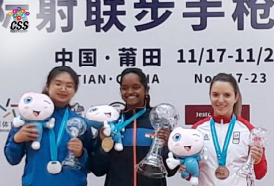 Elavenil valarivan won Gold in the 10m Air Rifle event at the ISSF - International Shooting Sport Federation World Cup Final held at Putian, China.