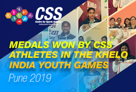 Medals won by CSS Athletes in the Khelo India Youth Games, Pune 2019