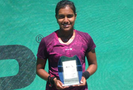 Nidhithra Rajmohan is a tennis player from Coimbatore, In May 2017 she participated in the Ce Sanchez- Casal Championchip in Barcelona, Spain. She won