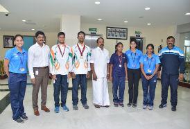 Sports Minister Thiru K.A Sengottaiyan visits CSS Facility