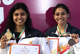 CSS student swimmers Jayaveena and Nivya Raja wins medals at the Khelo India Youth Games, Pune