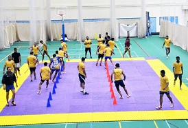Tamil Thalaivas train at Centre for Sports Science in preparation for the Pro Kabaddi League 2018